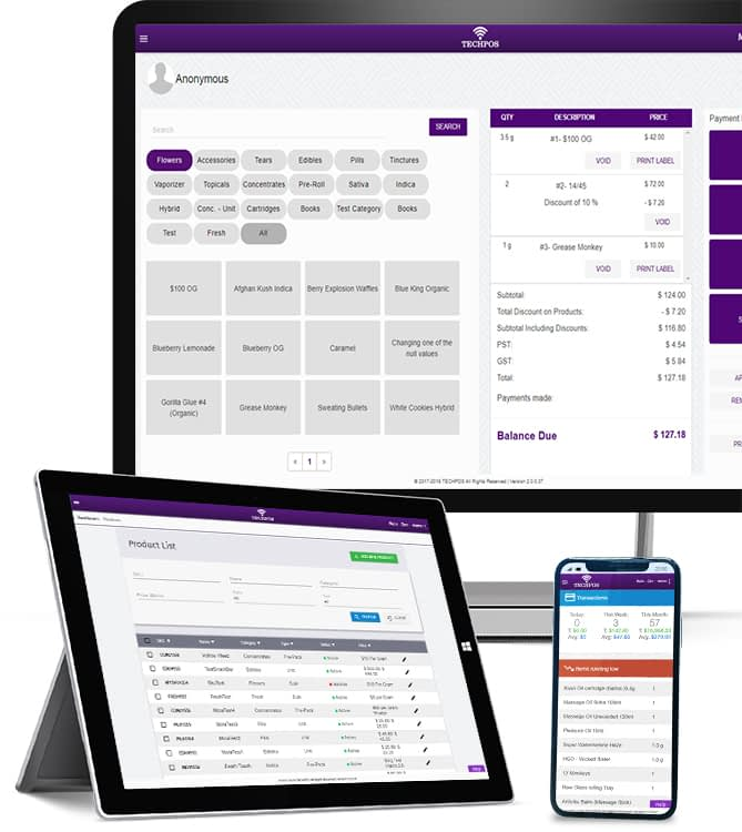 Cannabis POS - techpos_tablet_friendly_responsive