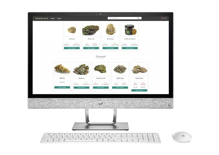 TechPOS Despensary - webmenu